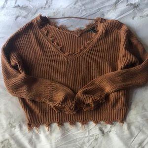 Burnt orange/brown sweater